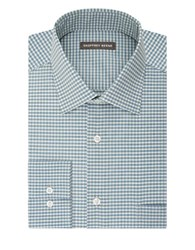 Geoffrey Beene Gingham Print Dress Shirt Mist