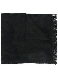 Mcq By Alexander Mcqueen Swallow Cut Up Scarf Black
