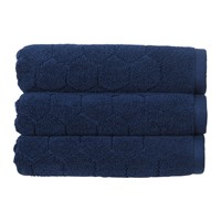 Christy Honeycomb Towel Navy Blue