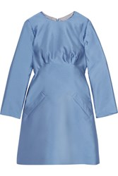 Merchant Archive Satin Twill Mini Dress Blue