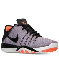 Nike Women's Free Tr 6 Print Training Sneakers From Finish Line Black Black Total Crimson