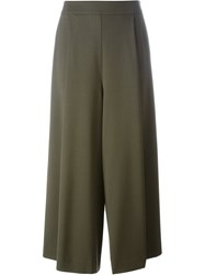 P.A.R.O.S.H. Wide Legged Cropped Trousers Green