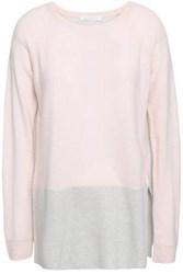 Duffy Two Tone Cashmere Sweater Pastel Pink