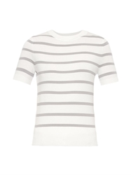 Richard Nicoll Short Sleeve Striped Knit Sweater