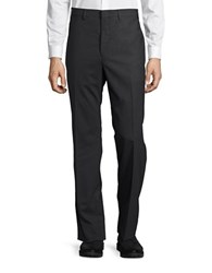 Lauren Ralph Lauren Straight Leg Wool Pants Charcoal