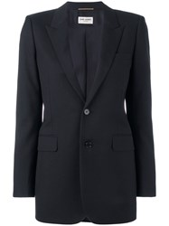 Saint Laurent Two Button Blazer Black