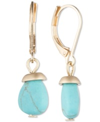 Lonna And Lilly Silver Tone Glass Bead Drop Earrings Turquoise