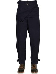 J.W.Anderson Garment Dyed Cotton Canvas Army Pants Navy