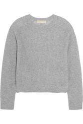 Michael Michael Kors Open Knit Cashmere Sweater Gray