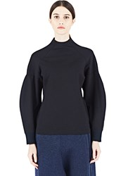 Y 3 Long Sleeved Balloon Top Black