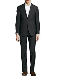 Tallia Notch Lapel Wool Suit Black