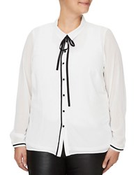 Junarose Nilan Point Collar Shirt Snow White