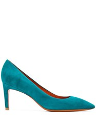 Santoni Pointed Pumps Green