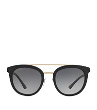Bulgari Bvlgari Round Acetate Sunglasses Female Black