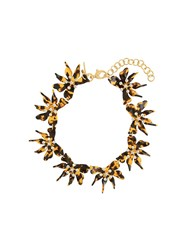 Lele Sadoughi Flower Collar Brown