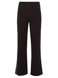 Roland Mouret Madison Stretch Crepe Trousers Navy Multi