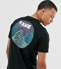 Friend Or Faux Tall Voltage Wave Back Print T Shirt Black