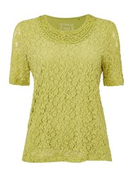 Tigi Short Sleeve Lace Top Green