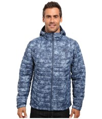 The North Face Thermoball Hoodie Shady Blue Process Print Men's Sweatshirt
