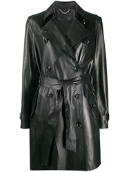 Desa 1972 Belted Leather Trench Coat 60