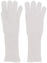 Cruciani Knitted Gloves White