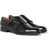 89fb90f53a0 Hugo Boss Stamford Leather Monk Strap Shoes Black