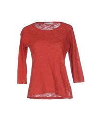 North Sails Topwear T Shirts Women Brick Red