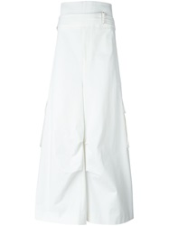Juun.J Belted Wide Leg Trousers White