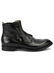 Officine Creative Lace Up Ankle Boots Black