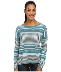Prana Adelaide Sweater Retro Teal Women's Sweater Blue