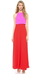 Jill Jill Stuart Two Tone Gown Pink Bright Red