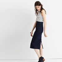 Madewell Denim Sailor Pencil Skirt