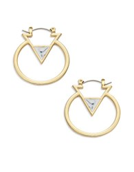 Catherine Stein Triangle Hoop Earrings