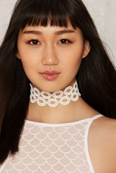 Running In Circles Crochet Lace Choker 74349