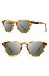 Shwood Men's 'Francis' 49Mm Sunglasses Matte Honey Elm G15 Matte Honey Elm G15