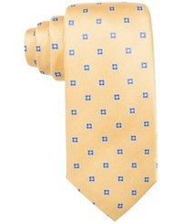 Countess Mara Men's Flower Neat Classic Tie Yellow