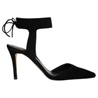Whistles Vidlin Cut Away Court Shoes Black Suede
