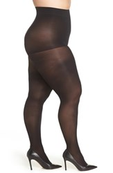 Hanes Plus Size Curves Control Top Opaque Tights Black