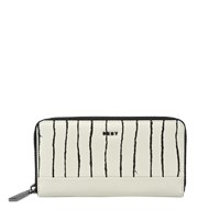 Dkny Twine Stripe Large Zip Around Wallet