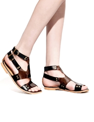Pixie Market Lucite Black Gladiators