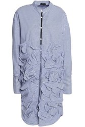 Raoul Striped Ruffled Cotton Poplin Shirt Dress Blue