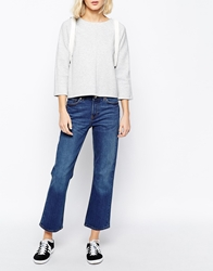 Weekday Cut High Waist Slightly Bootcut Jeans Blue
