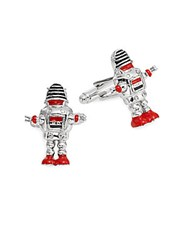 Saks Fifth Avenue Robot Cuff Links No Color