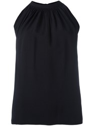 Helmut Lang Gathered Front Tank Top Black