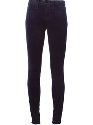 J Brand Velvet Trousers Pink And Purple