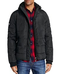 Superdry Polar Sports Hooded Puffer Jacket Black