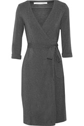 Diane Von Furstenberg Julian Jersey Wrap Dress Gray