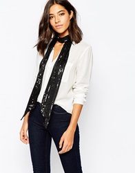 Warehouse Sequin Scarf Black