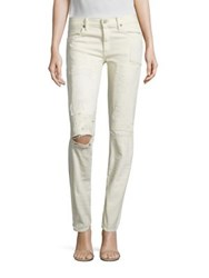 Polo Ralph Lauren Distressed Slim Boyfriend Jeans Cream