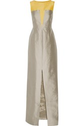 Raoul Carly Silk And Wool Blend Gown Gray